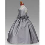 A-line/Princess/Ball Gown Floor-length Flower Girl Dress - Taffeta Sleeveless Flower Girl Dresses