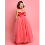First Communion / Wedding Party Dress - Watermelon Apple / Hourglass / Inverted Triangle / Pear / Rectangle / Petite A-line / Princess Flower Girl Dresses