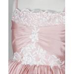 A-line/Princess/Ball Gown Floor-length/Court Train Flower Girl Dress - Taffeta Sleeveless Flower Girl Dresses