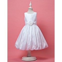A-line/Princess Knee-length Flower Girl Dress - Taffeta Sleeveless