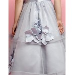 A-line Floor-length Flower Girl Dress - Organza/Satin Sleeveless Flower Girl Dresses