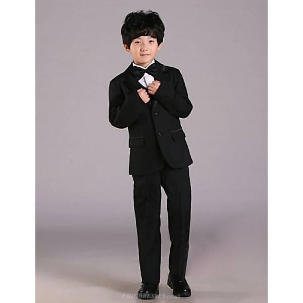 First Communion Ring Bearer Suit Black Polester/Cotton Blend 5 Suit Bearer Dressy Suits Flower Girl Dresses