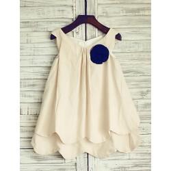 Sheath Knee-length Flower Girl Dress - Linen Sleeveless