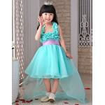 Flower Girl Dress front short and long back Princess Organza Sleeveless Dress Flower Girl Dresses