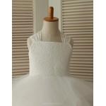 Princess Ankle-length Flower Girl Dress - Lace/Tulle Sleeveless Flower Girl Dresses