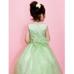 Ball Gown/A-line Floor-length Flower Girl Dress - Organza/Satin Sleeveless Flower Girl Dresses