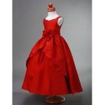 Ball Gown Ankle-length Flower Girl Dress - Taffeta Sleeveless Flower Girl Dresses
