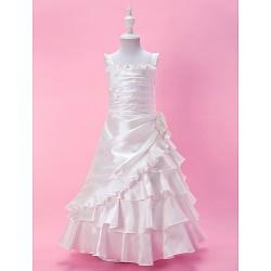 A-line/Princess Floor-length Flower Girl Dress - Taffeta Sleeveless