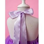 A-line/Ball Gown Knee-length Flower Girl Dress - Tulle Sleeveless Flower Girl Dresses