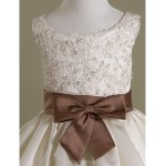 A-line/Princess/Ball Gown Floor-length Flower Girl Dress - Satin Sleeveless Flower Girl Dresses
