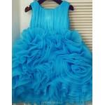 Princess Knee-length Flower Girl Dress - Organza Sleeveless Flower Girl Dresses