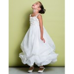 A-line Ankle-length Flower Girl Dress - Organza Sleeveless Flower Girl Dresses