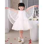 Flower Girl Dress Knee-length Organza/Tulle Princess Sleeveless Dress Flower Girl Dresses
