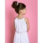 A-line Floor-length Flower Girl Dress - Chiffon/Stretch Satin Sleeveless Flower Girl Dresses
