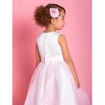 A-line Ankle-length Flower Girl Dress - Organza/Satin Sleeveless Flower Girl Dresses