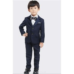 Ring Bearer Suit DarkNavy Uniform Cloth 4 Suit Boy Dress
