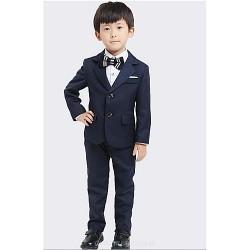 Ring Bearer Suit DarkNavy Uniform Cloth 4 Suit Boy Dress