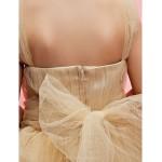 Ball Gown/A-line Ankle-length Flower Girl Dress - Tulle Short Sleeve Flower Girl Dresses