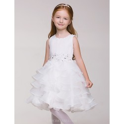 The White Dress Girl Sleeveless Birthday Flower Girl Tutu (without Headgear)