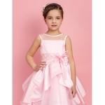 Ball Gown/A-line/Princess Tea-length Flower Girl Dress - Satin/Organza Sleeveless Flower Girl Dresses