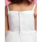 A-line/Princess Floor-length Flower Girl Dress - Tulle/Satin Sleeveless Flower Girl Dresses