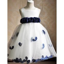 Flower Girl Dress Hemline/Train Fabric Silhouette Sleeve Length Dress
