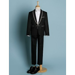 Wedding Ring Bearer Suits Black Ring Bearer Dressy Tuxedo Suits (1634549)