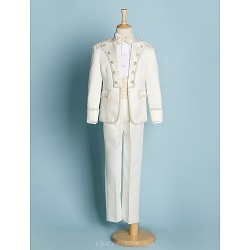 Ivory Polyester Ring Bearer Suit - 5 Pieces