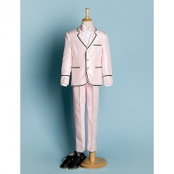 Pink Polyester Ring Bearer Suit 5 Pieces