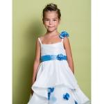 A-line Floor-length Flower Girl Dress - Organza Sleeveless Flower Girl Dresses