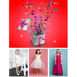 Free Shipping Lucky Bag Contains Three Kids Dresses