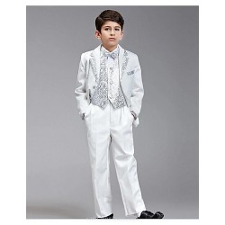Gold / Silver Polyester Ring Bearer Suit - 6 Pieces