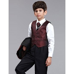 First Communion Ring Bearer Suit Polester Cotton Blend 5 Suit Bearer Dressy Suits