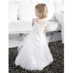 Ball Gown Floor-length Flower Girl Dress - Satin/Tulle Sleeveless Flower Girl Dresses