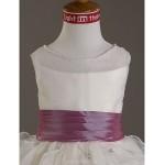 Ball Gown Floor-length Flower Girl Dress - Satin/Organza Sleeveless Flower Girl Dresses