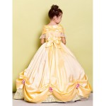 Ball Gown Floor-length Flower Girl Dress - Taffeta Flower Girl Dresses