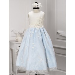 A Line Ankle Length Flower Girl Dress Lace Sleeveless