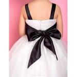 A-line/Princess Ankle-length Flower Girl Dress - Satin/Tulle Sleeveless Flower Girl Dresses
