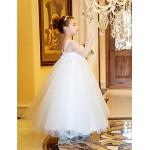 A-line/Princess Ankle-length Flower Girl Dress - Tulle/Satin Sleeveless Flower Girl Dresses