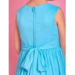 A-line Tea-length Flower Girl Dress - Chiffon Sleeveless Flower Girl Dresses