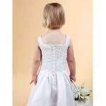 A-line/Princess Floor-length Flower Girl Dress - Satin/Lace Sleeveless Flower Girl Dresses