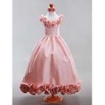 A-line/Princess Floor-length Flower Girl Dress - Taffeta Sleeveless Flower Girl Dresses