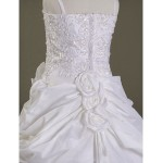 A-line/Princess/Ball Gown Court Train Flower Girl Dress - Satin/Organza Sleeveless Flower Girl Dresses