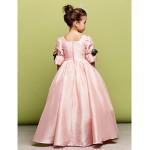 Flower Girl Dress Tea-length A-line|Princess Tulle Square Half Sleeve Dress Flower Girl Dresses