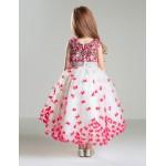 Ball Gown Court Train Flower Girl Dress - Satin Sleeveless Flower Girl Dresses