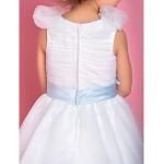 A-line/Princess Floor-length Flower Girl Dress - Organza Sleeveless Flower Girl Dresses
