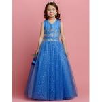 Ball Gown Floor-length Flower Girl Dress - Tulle Sleeveless Flower Girl Dresses