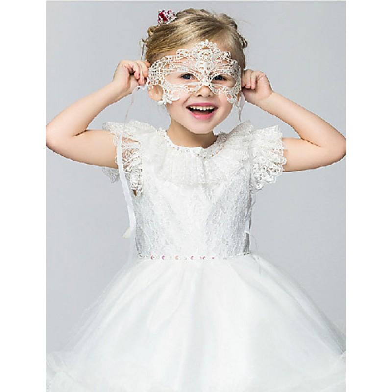 460130d5aad9 Flower Girl Dress Knee-length Cotton Organza Taffeta Ball Gown ...
