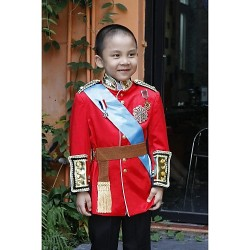 Red Polyester Ring Bearer Suit 3 Pieces