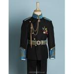Black/Ivory Polyester Ring Bearer Suit - 4 Pieces Flower Girl Dresses